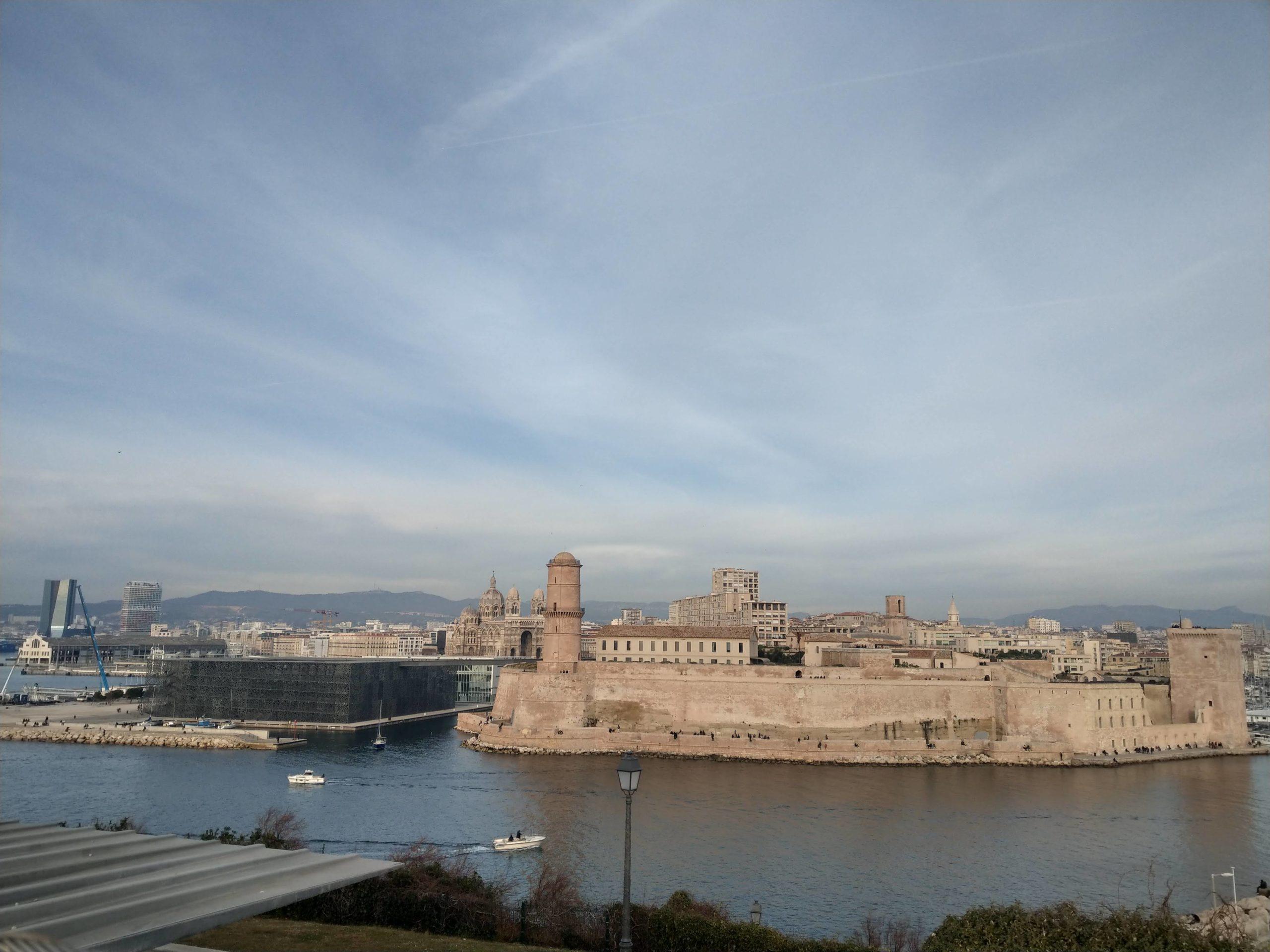 Le Fort Saint-Jean et le MUCEM vu du Palais du Pharo