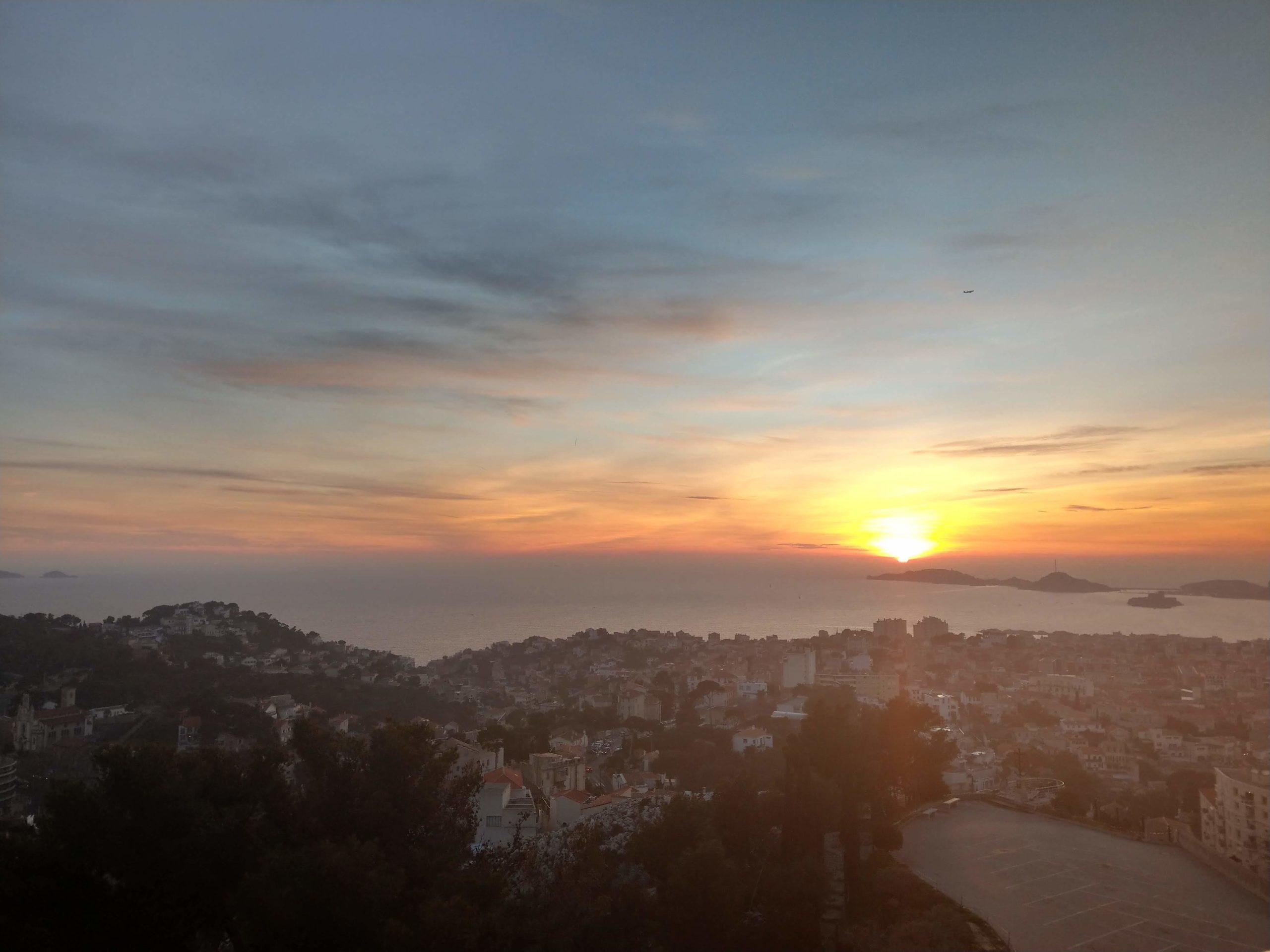 Coucher de soleil Marseille