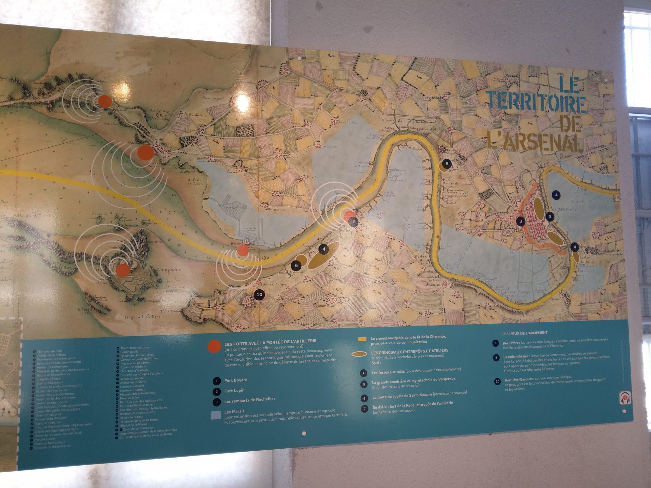 Plan de l'estuaire de la Charente